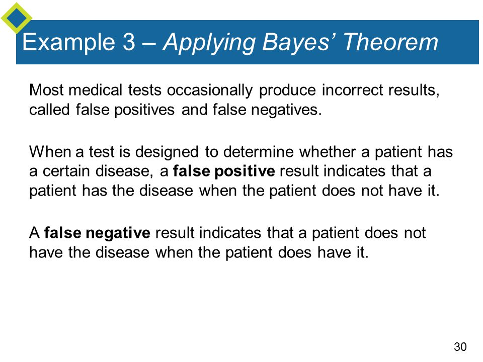 Example 3 – Applying Bayes' Theorem