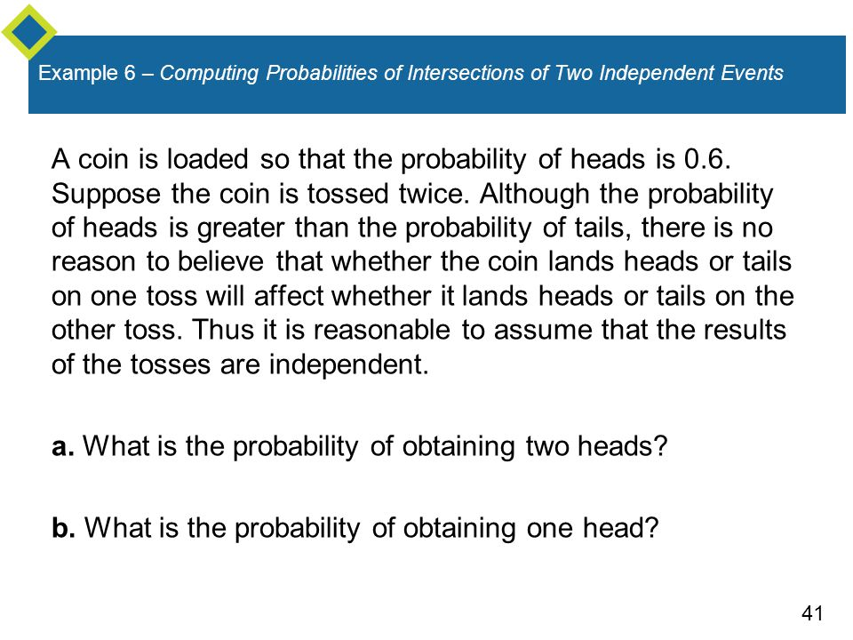a. What is the probability of obtaining two heads
