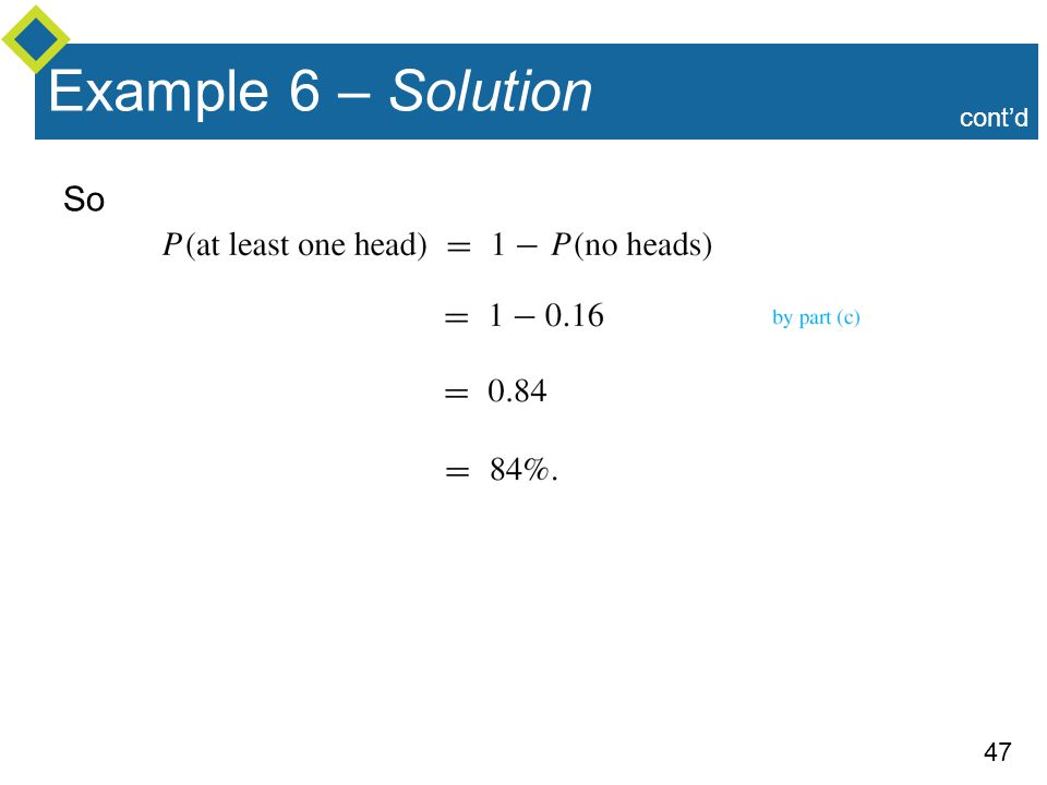 Example 6 – Solution cont'd So