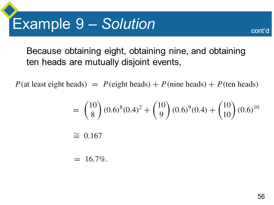 Example 9 – Solution cont'd.