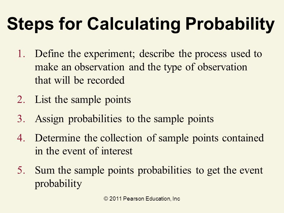 Steps for Calculating Probability