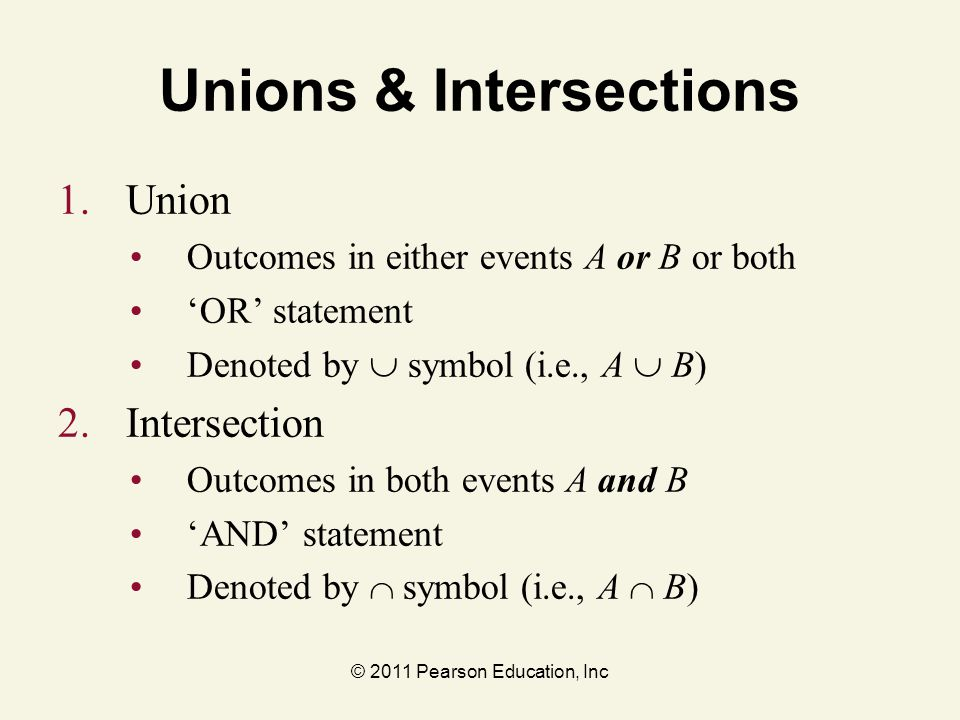 Unions & Intersections