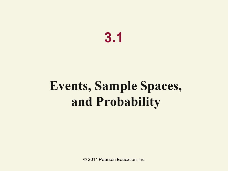 Events, Sample Spaces, and Probability