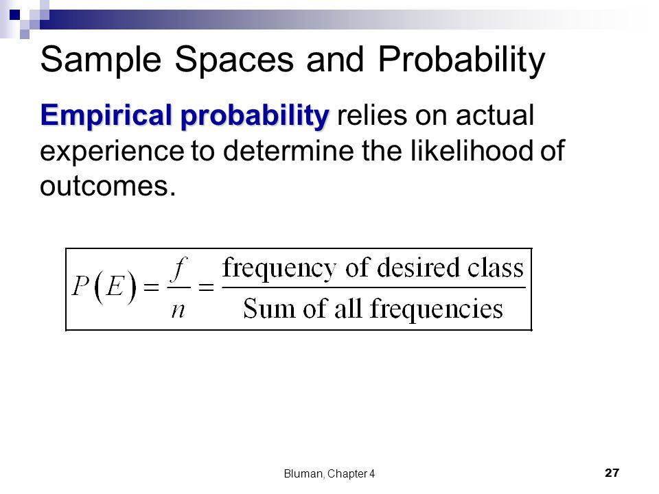 Sample Spaces and Probability