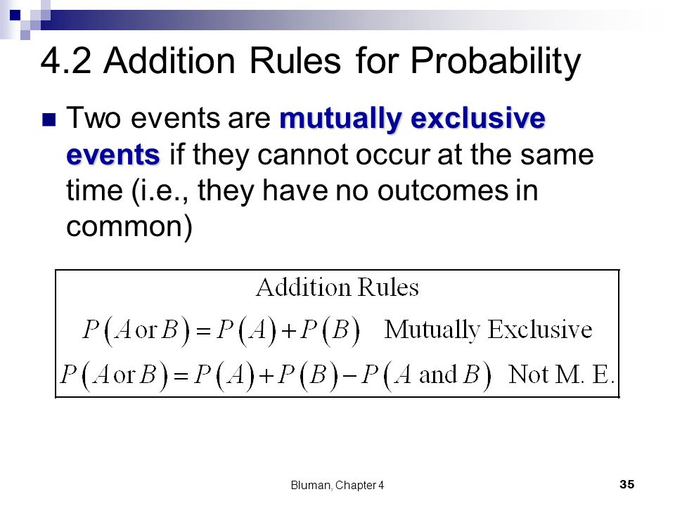 4.2 Addition Rules for Probability