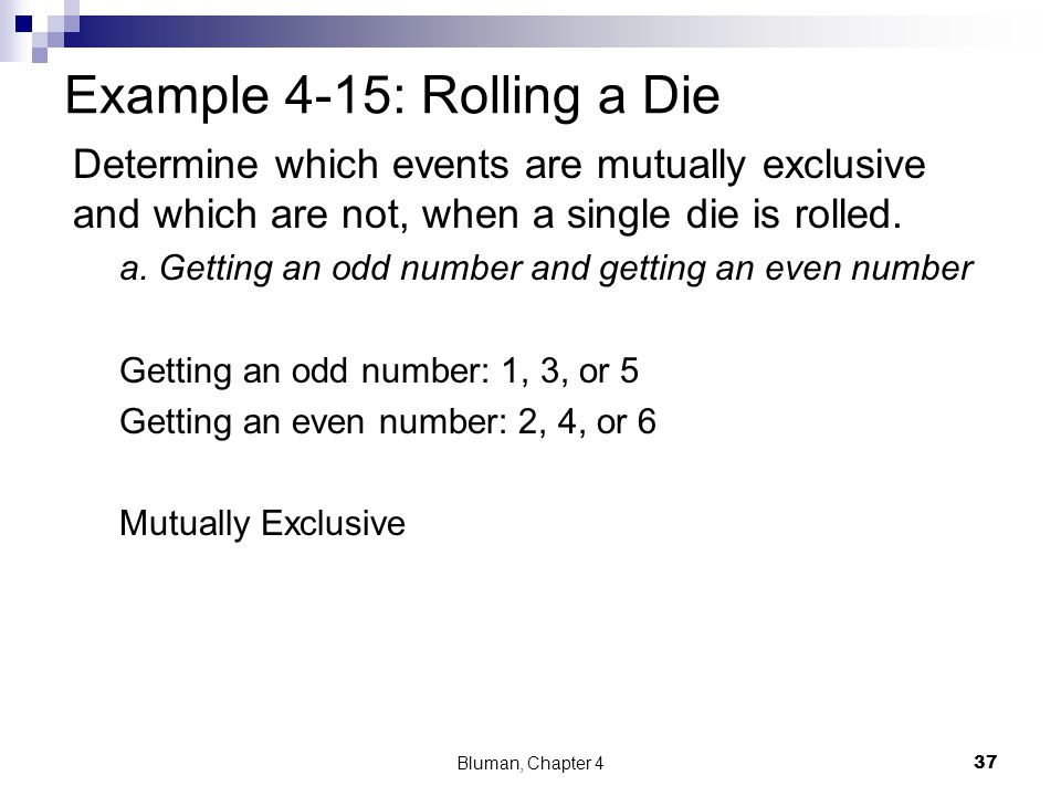Example 4-15: Rolling a Die