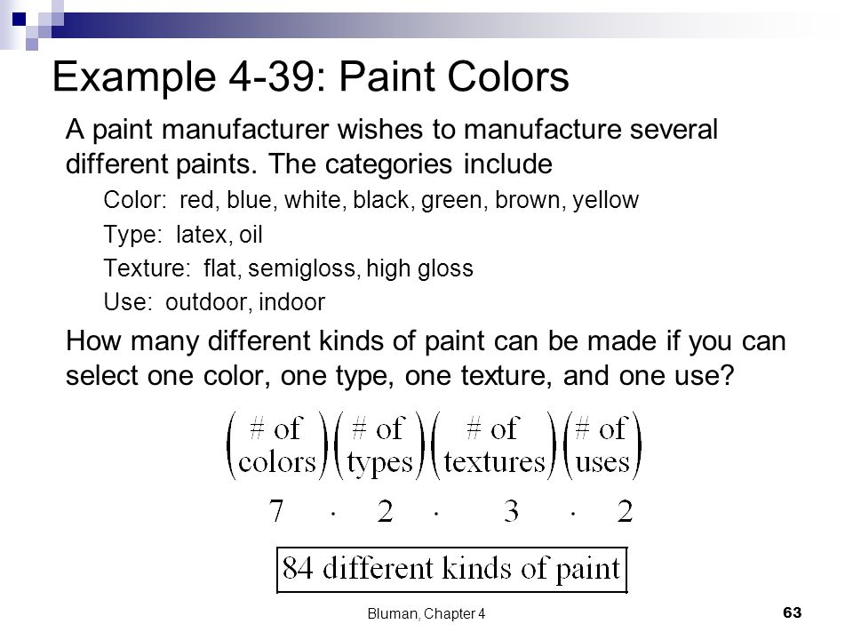 Example 4-39: Paint Colors