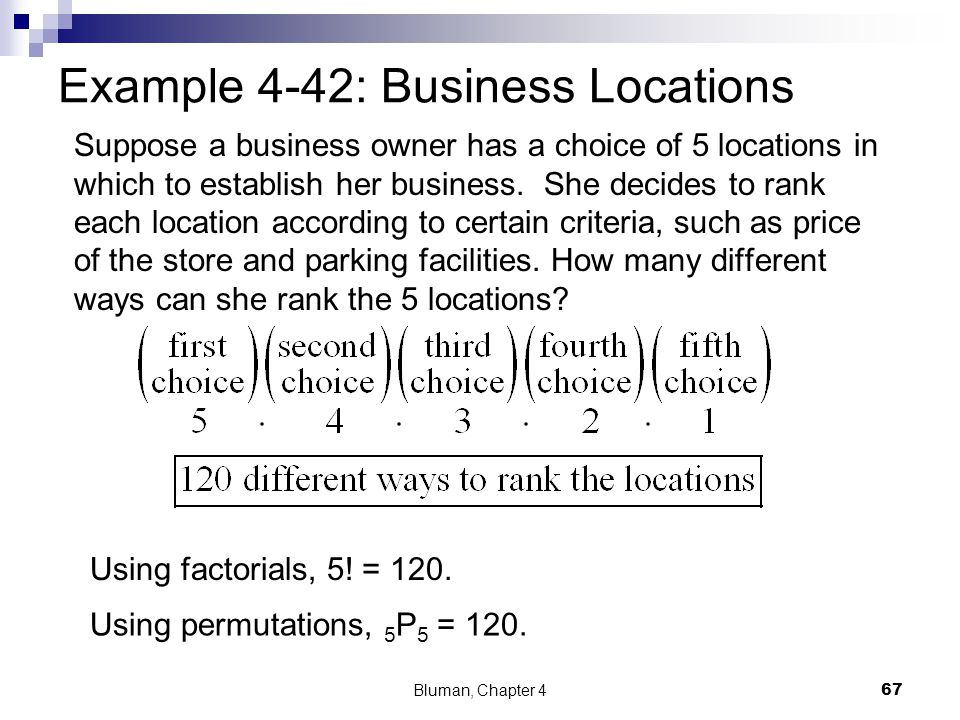 Example 4-42: Business Locations