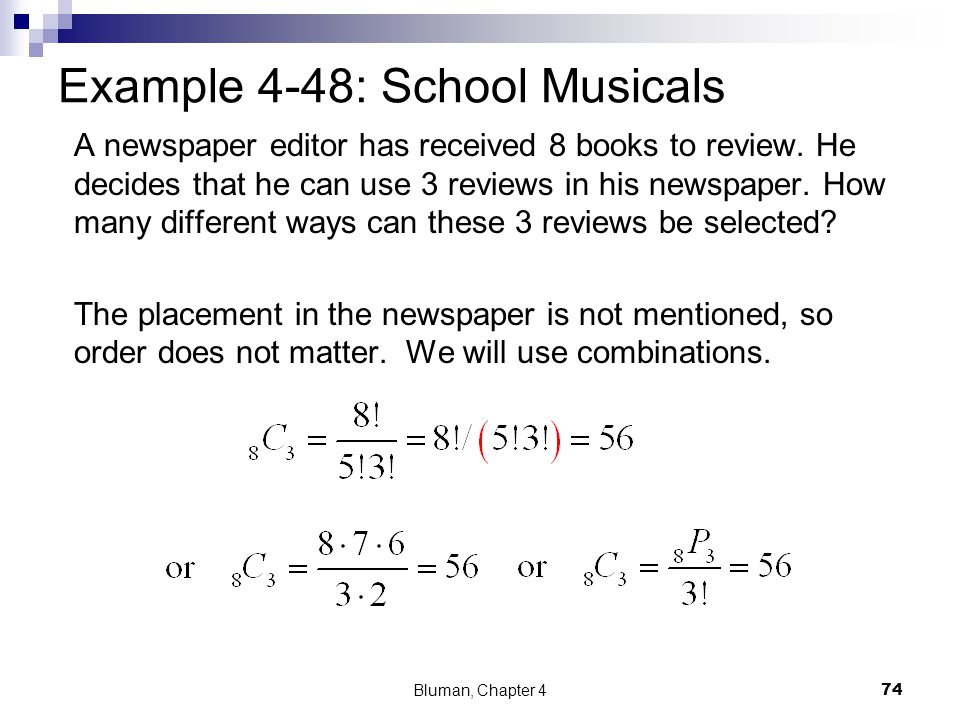 Example 4-48: School Musicals