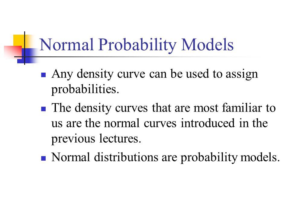 Normal Probability Models