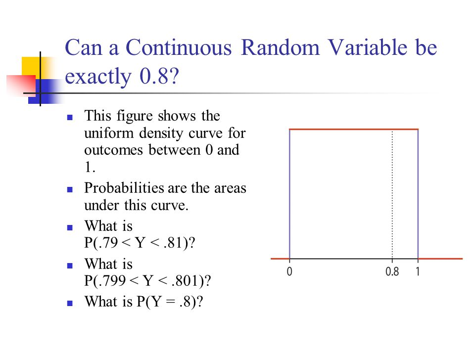 Can a Continuous Random Variable be exactly 0.8