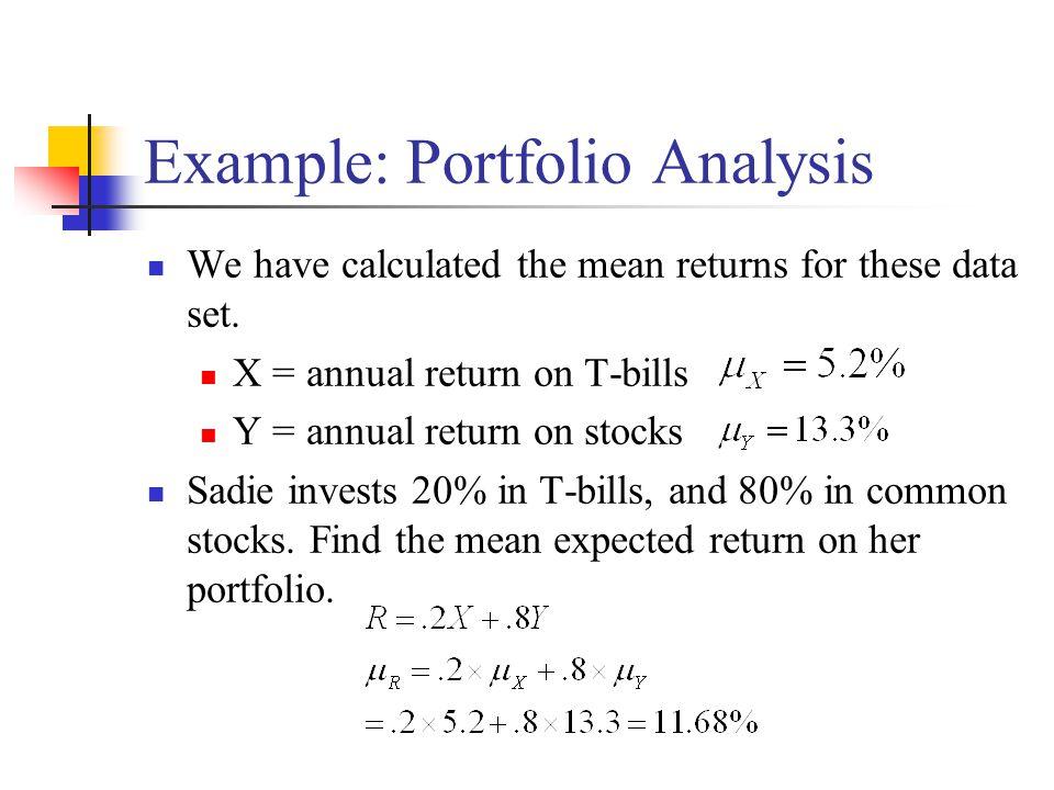 Example: Portfolio Analysis