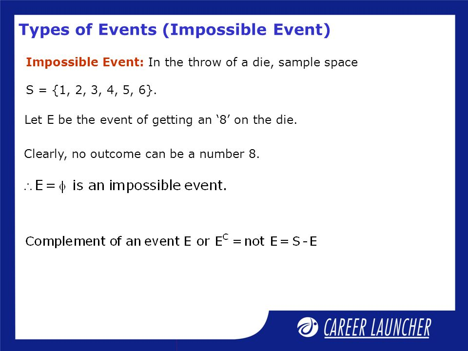Types of Events (Impossible Event)