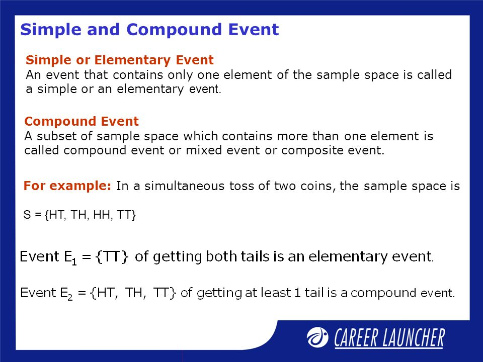 Simple and Compound Event