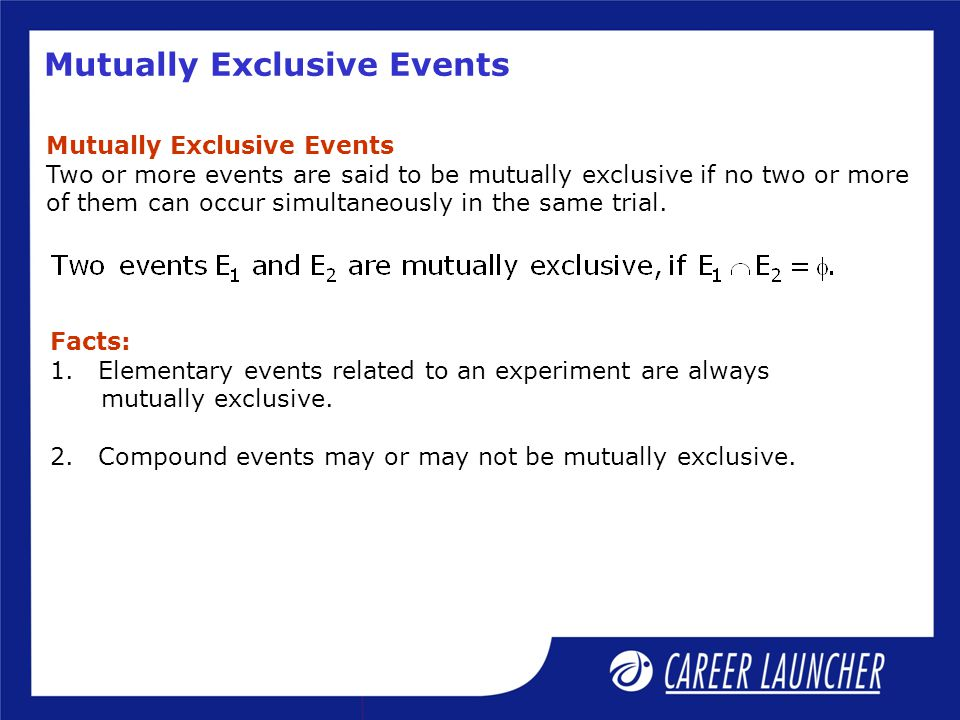 Mutually Exclusive Events