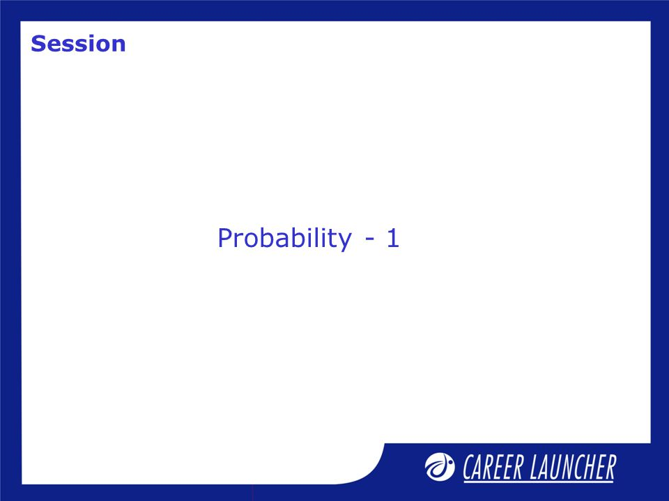 Session Probability - 1
