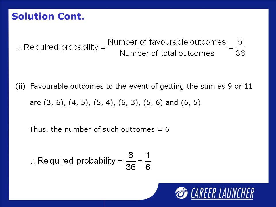 Thus, the number of such outcomes = 6