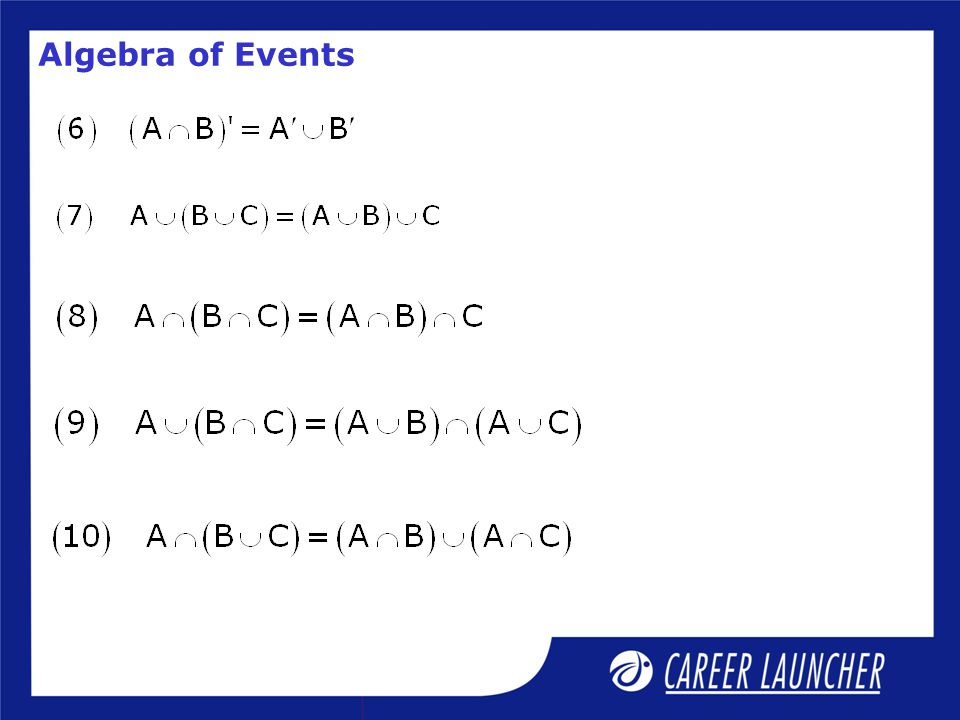 Algebra of Events