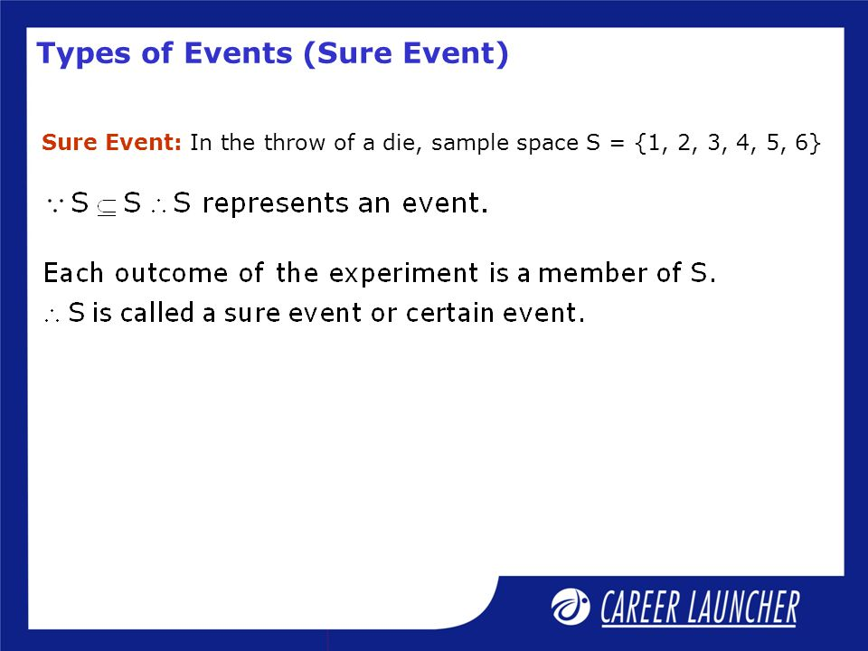 Types of Events (Sure Event)