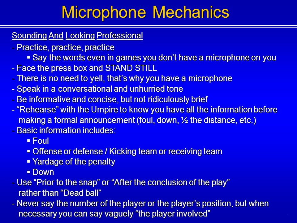 Microphone Mechanics Sounding And Looking Professional