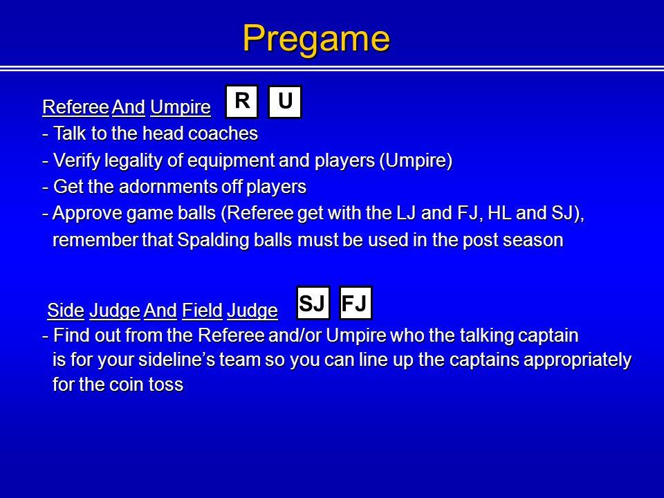 Pregame R U SJ FJ Referee And Umpire Talk to the head coaches