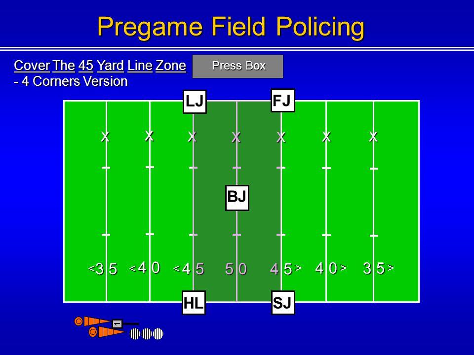 Pregame Field Policing