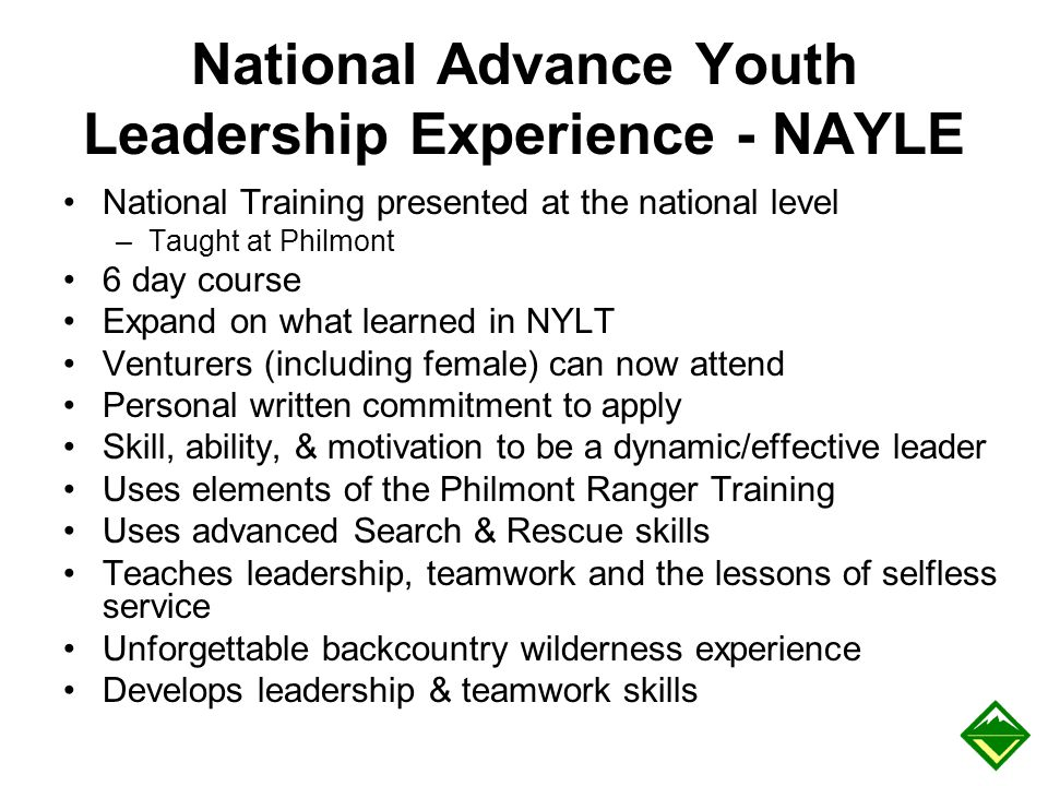 National Advance Youth Leadership Experience - NAYLE