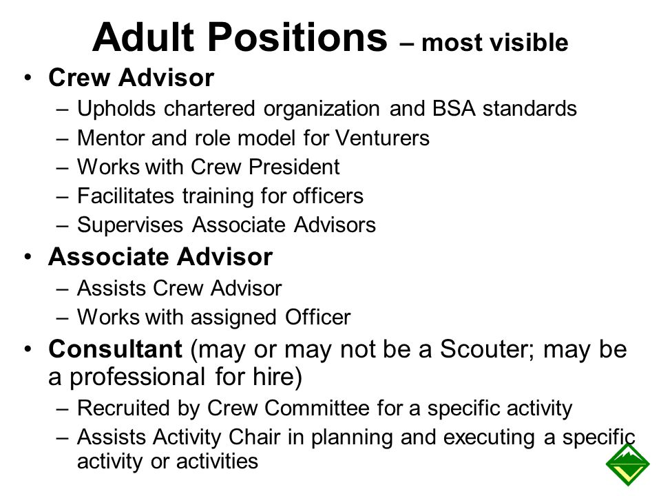 Adult Positions – most visible