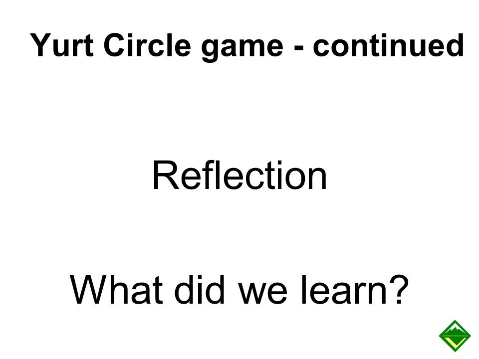Yurt Circle game - continued
