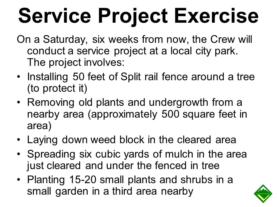 Service Project Exercise