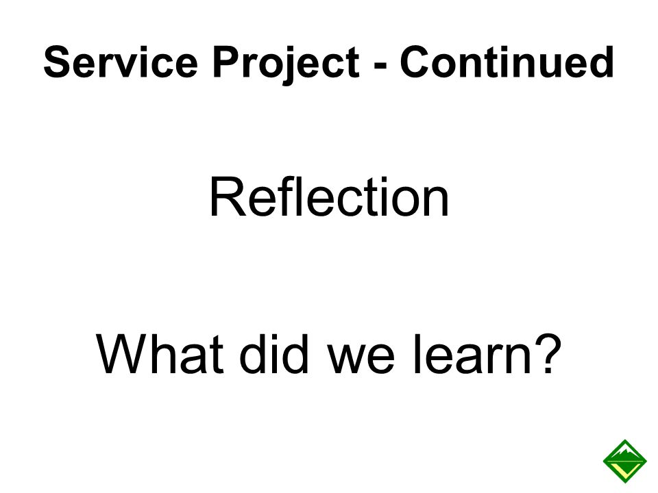 Service Project - Continued