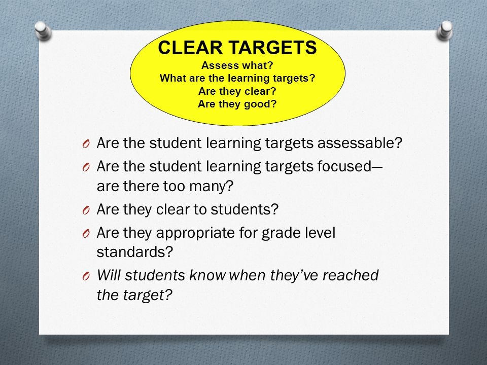 What are the learning targets