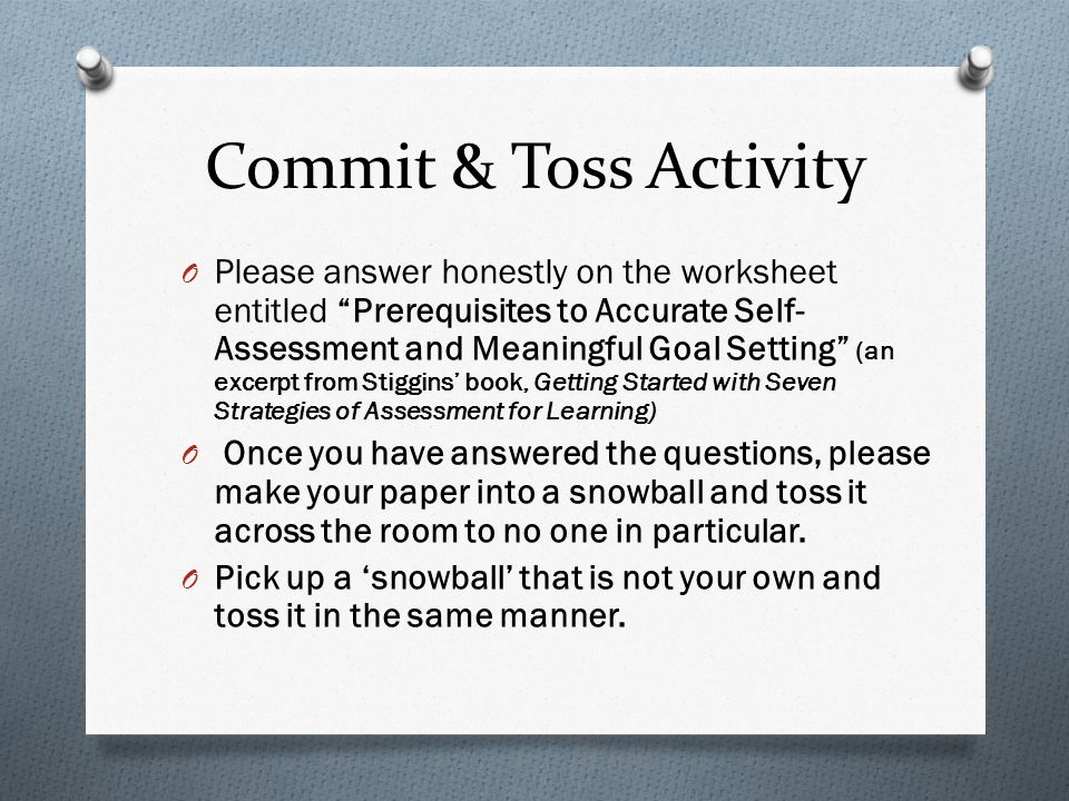 Commit & Toss Activity