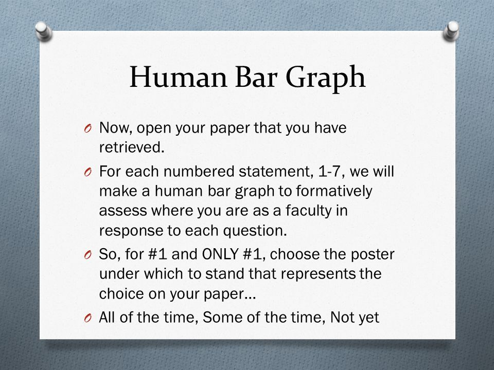Human Bar Graph Now, open your paper that you have retrieved.
