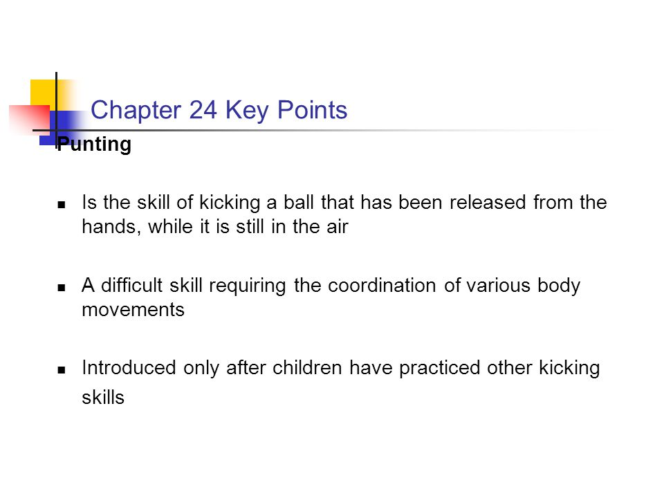 Chapter 24 Key Points Punting