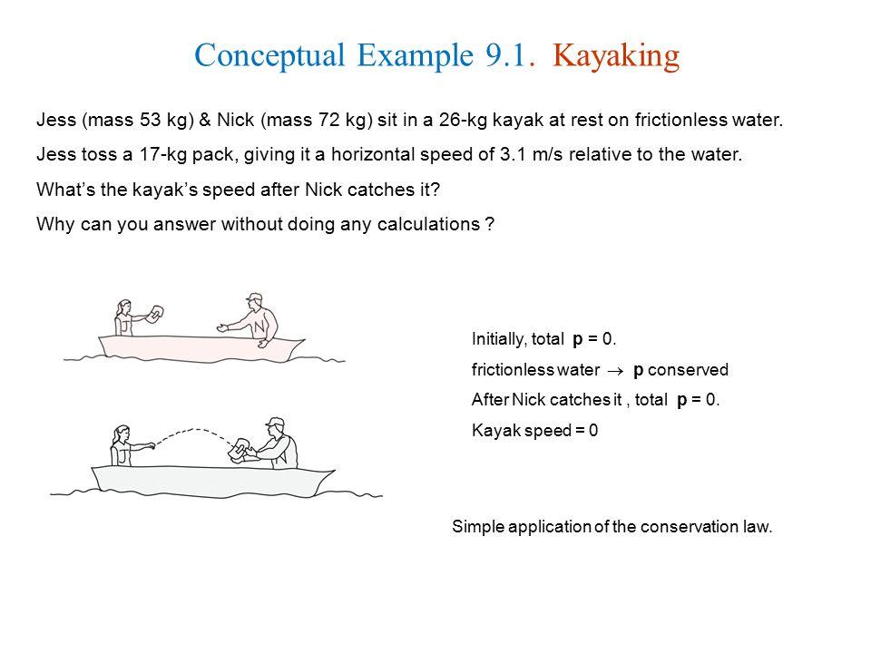 Conceptual Example 9.1. Kayaking