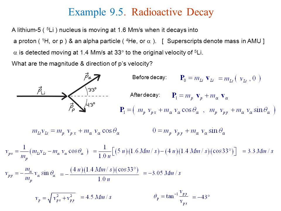 Example 9.5. Radioactive Decay