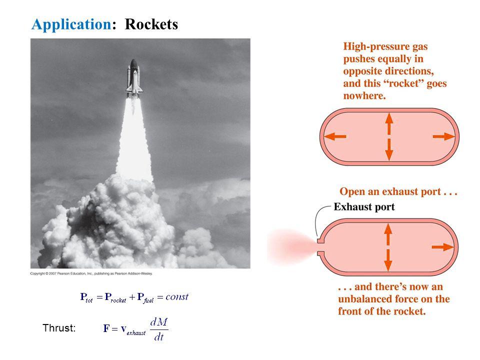 Application: Rockets Thrust: