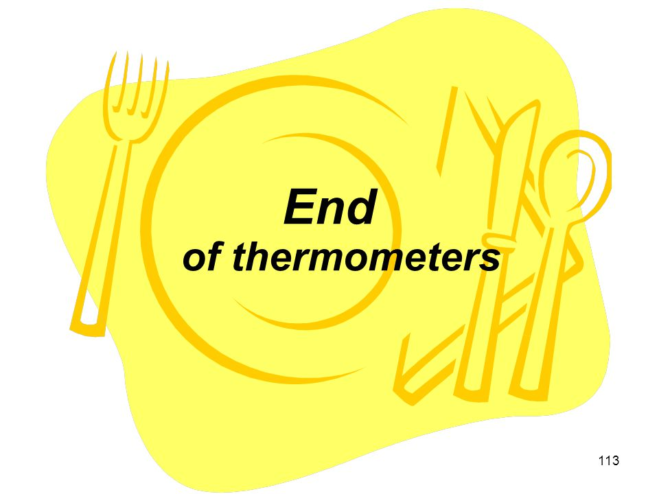 End of thermometers