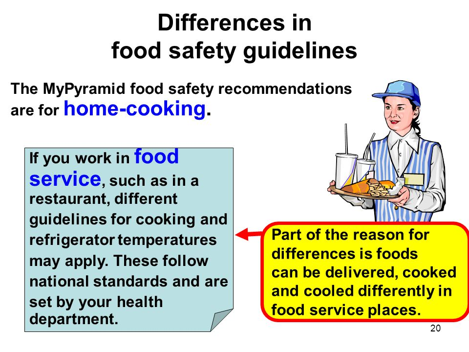 Differences in food safety guidelines