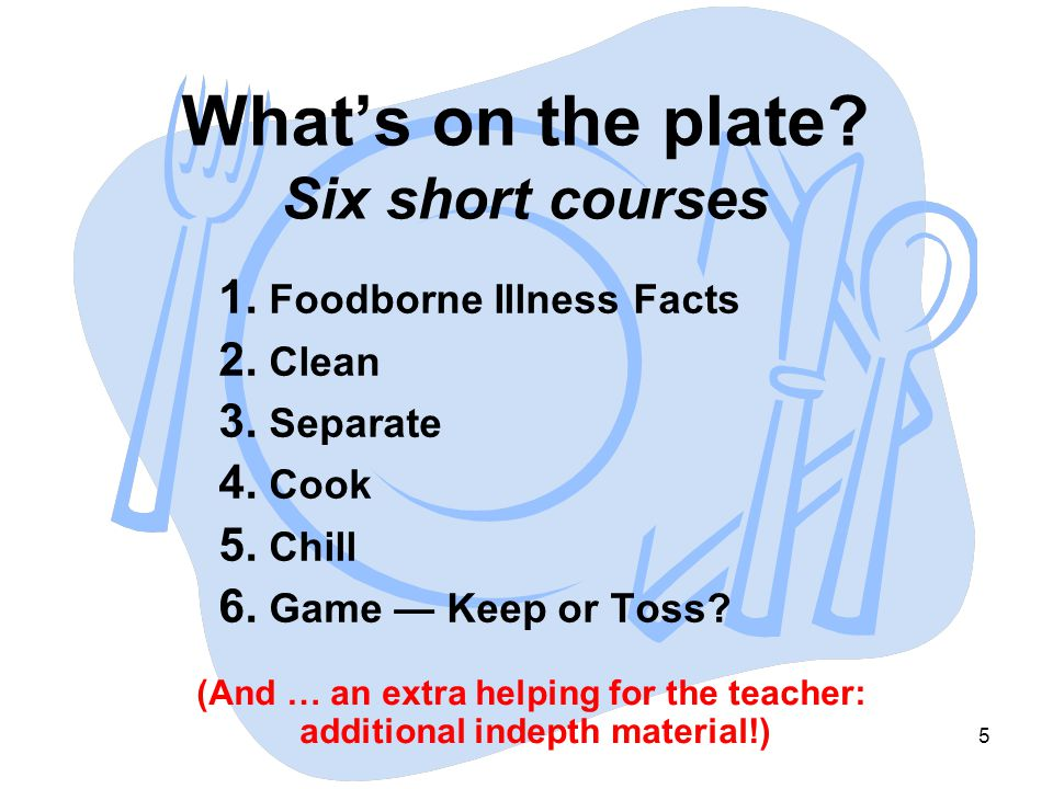 What's on the plate Six short courses