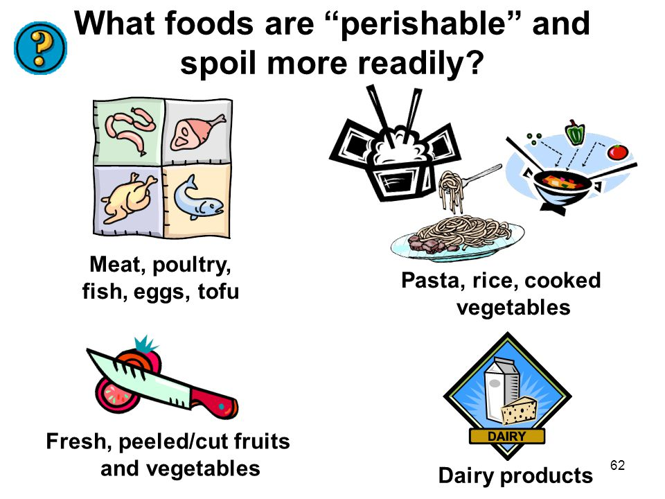 What foods are perishable and spoil more readily