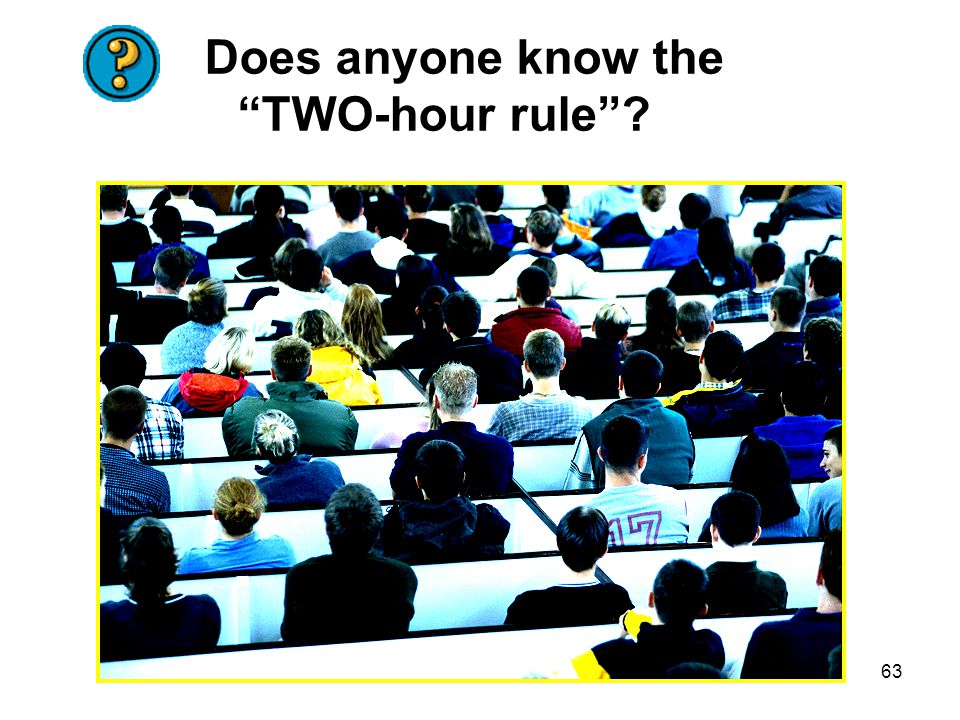 Does anyone know the TWO-hour rule
