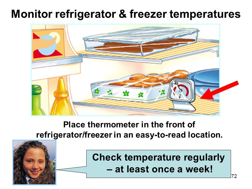 Monitor refrigerator & freezer temperatures