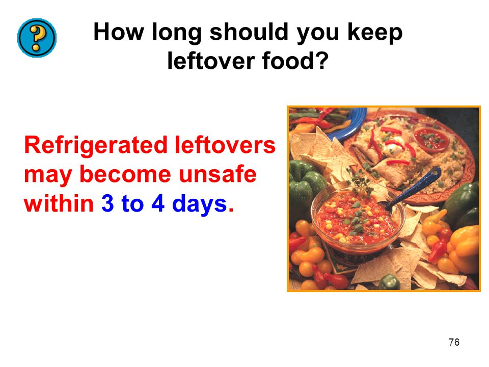 How long should you keep leftover food
