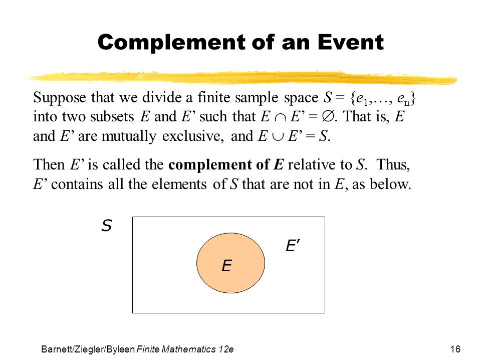 Complement of an Event