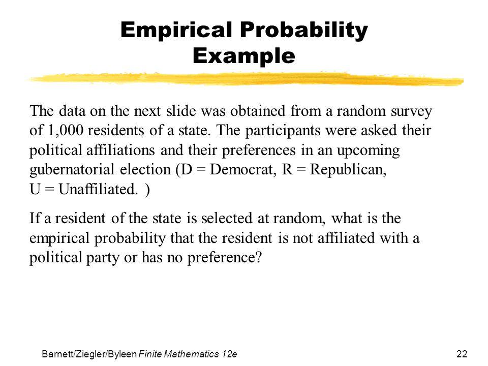 Empirical Probability Example