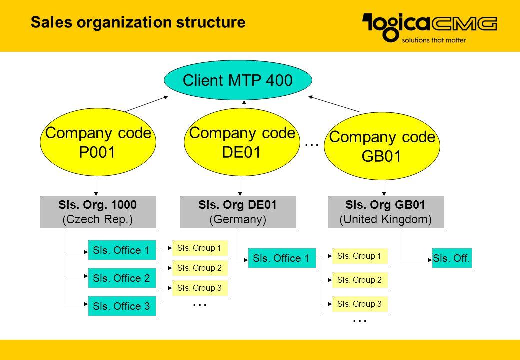 Sales organization structure