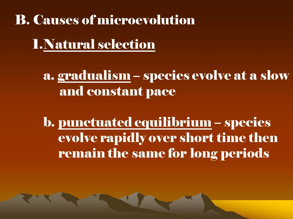 B. Causes of microevolution