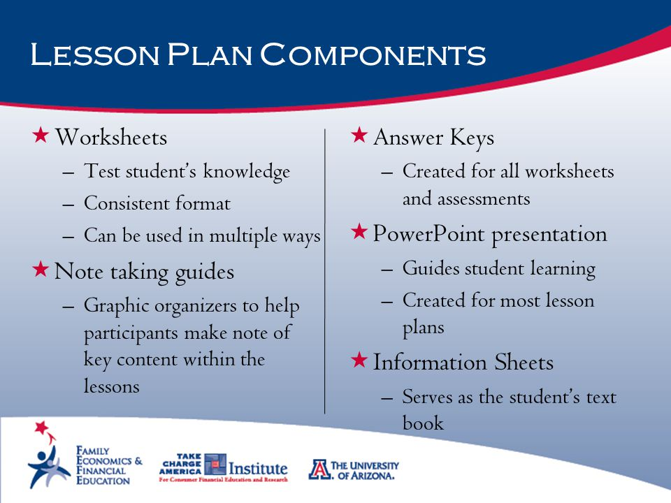 Lesson Plan Components